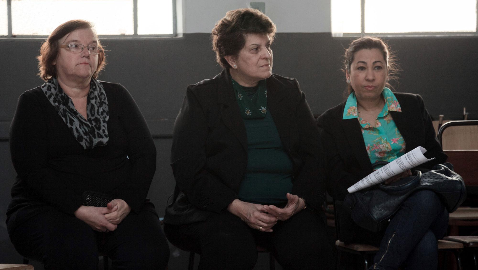 Regina Claret Kapp dos Santos (Associação Pastoral de Assistência Social N. Senhora Aparecida), Sonia Maria Bastos Buchdid e Renata Claro de Oliveira (APAE – Associação de Pais e Amigos dos Excepcionais).