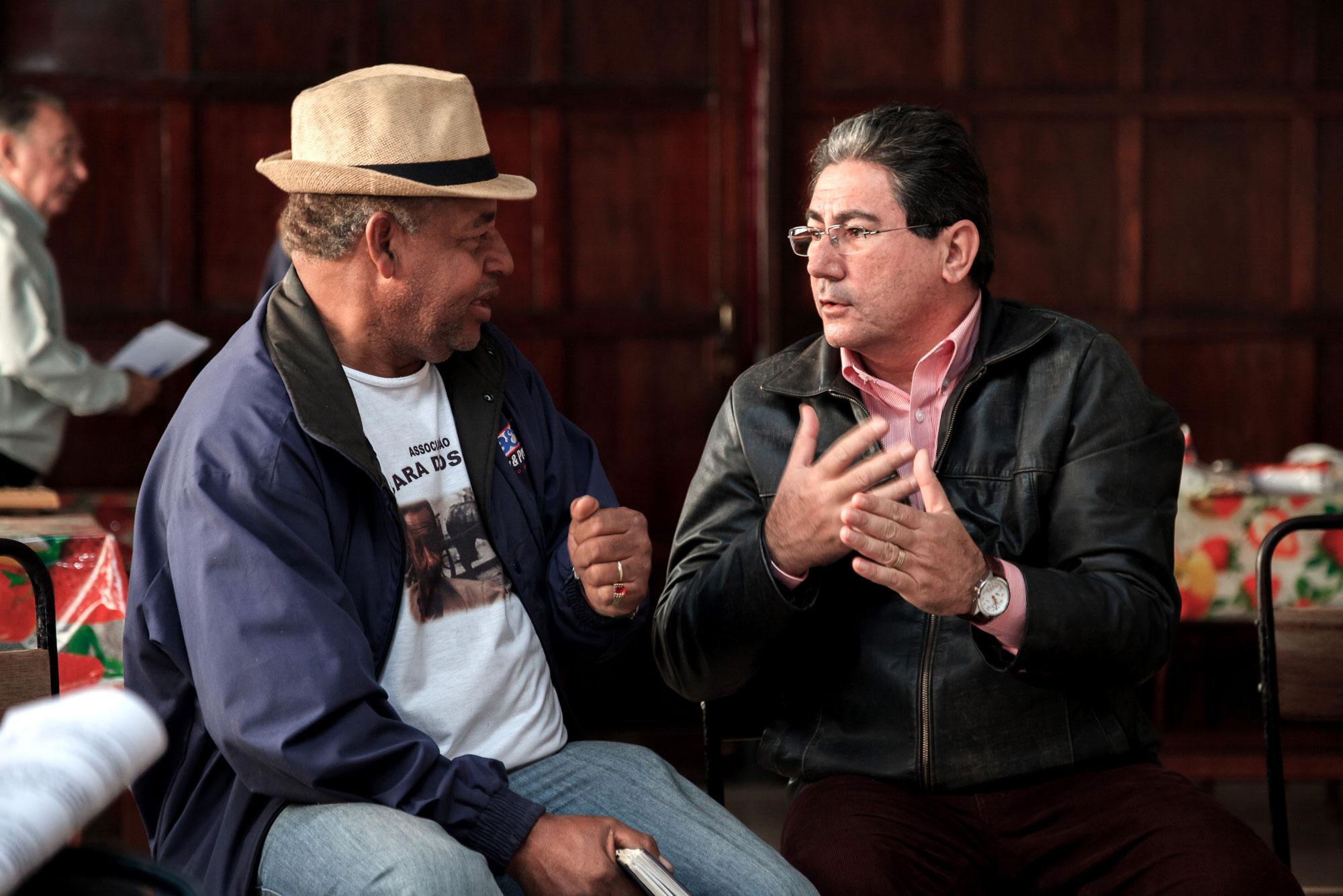 Claudio Roberto Pereira (Associação Chácara dos Pretos), e Dr. Juarez Vicente de Carvalho (OAB - Ordem dos Advogados do Brasil Subseção Rio Claro)
