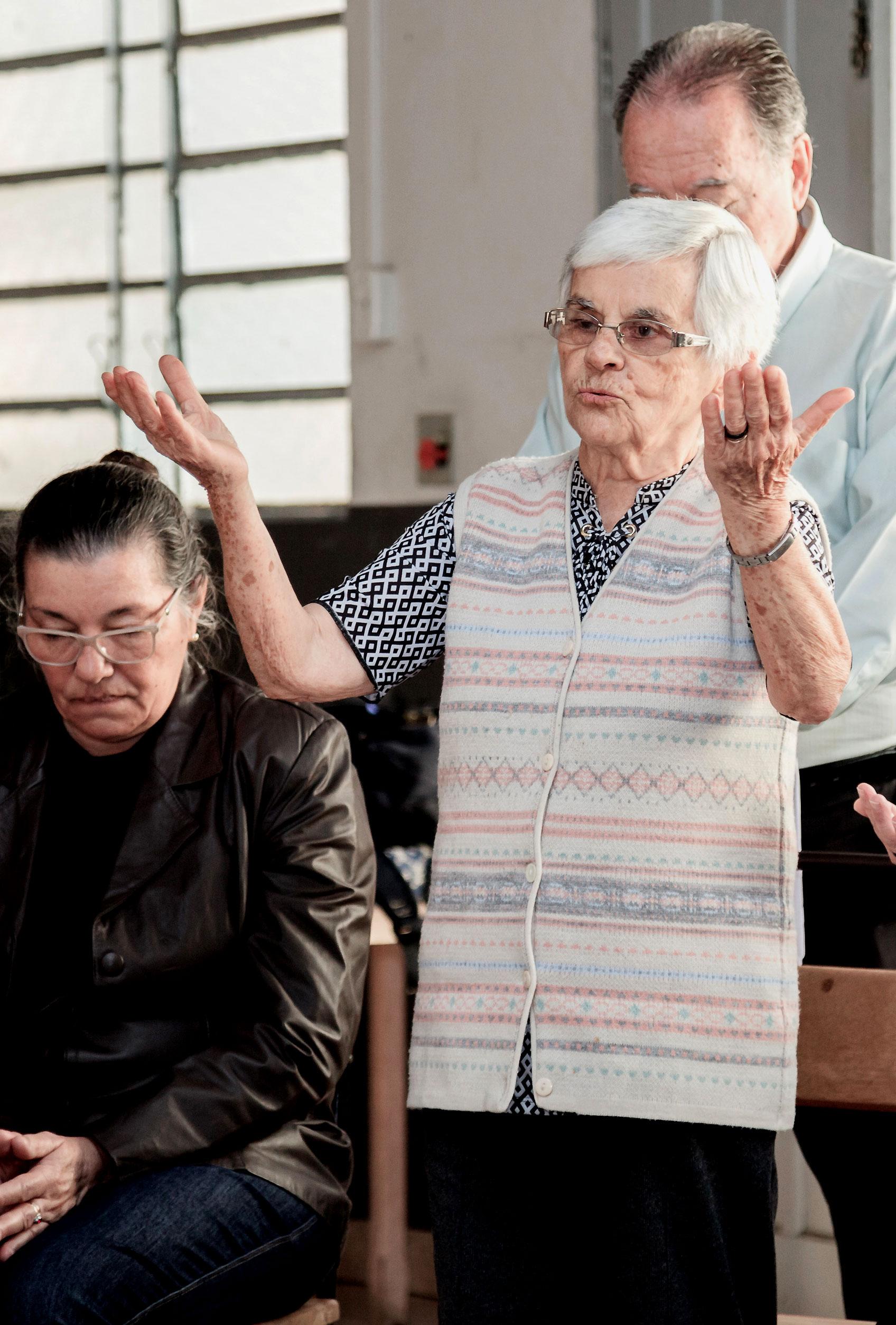 A sempre presente e dinâmica Irmã Judithe Maria Rodrigues, que na Coordenação da Casa de N.Senhora muito apoiou e incentivou os organizadores do evento.