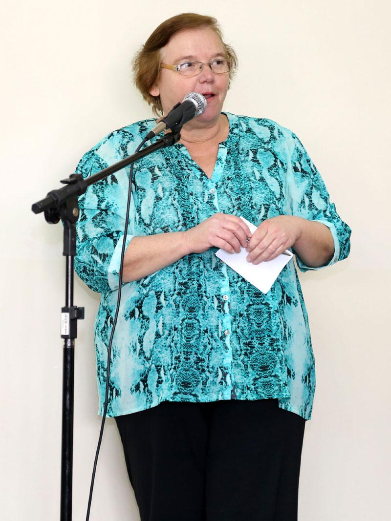 Regina Claret Kapp dos Santos da Associação Pastoral de Assistência Social N. Senhora Aparecida.