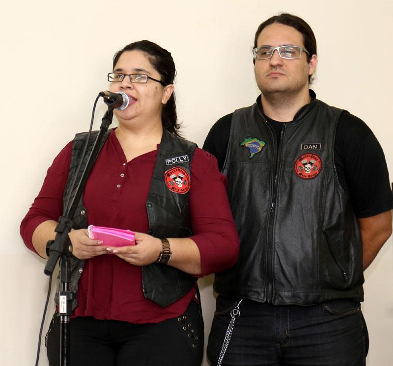 Pollyanna Lima e Danylo Lima da Associação Motor Head.